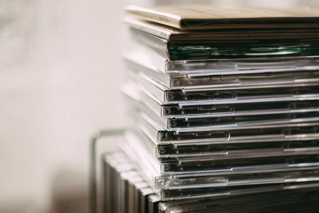 Music Submissions, stack of CDs