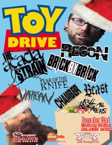 December 22nd Toy Drive at Chrome in Waterford.