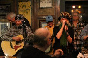 Ramblin' Jug Stompers featuring Steven Clyde (acoustic guitar/vocals), Paul Jossman (mandolin/vocals), Val Haynes (vocals), and Greg Haymes (washboard/vocals)