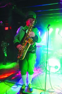 Luke McNamee on tenor saxophone.