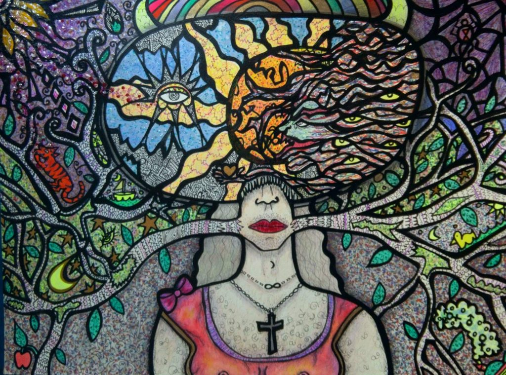 Sarah Holub Schrom, artist.