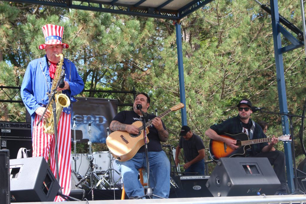 """The Tradition"" featuring ""Uncle Sax"" (Luke McNamee), Ralph Renna, and Zach Leffler, opening up the 2019 Uncle Sam Birthday Bash"
