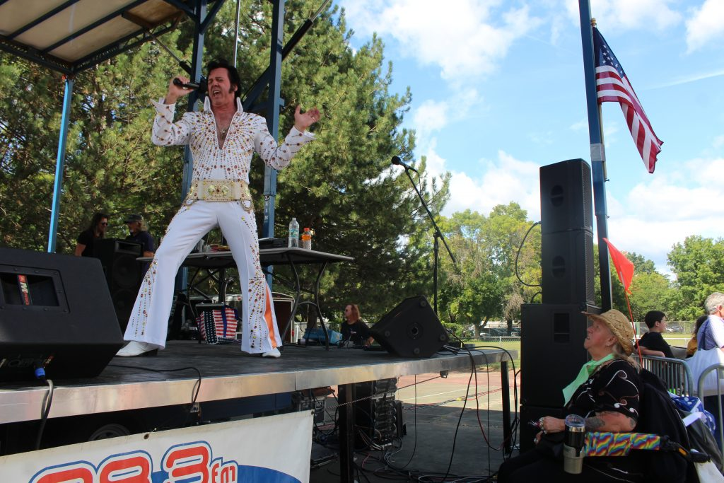 """Donny Elvis"" performing as part of the Uncle Sam Birthday Bash"