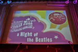 The 7th Annual Dustin Mele Memorial Concert Projection Sign