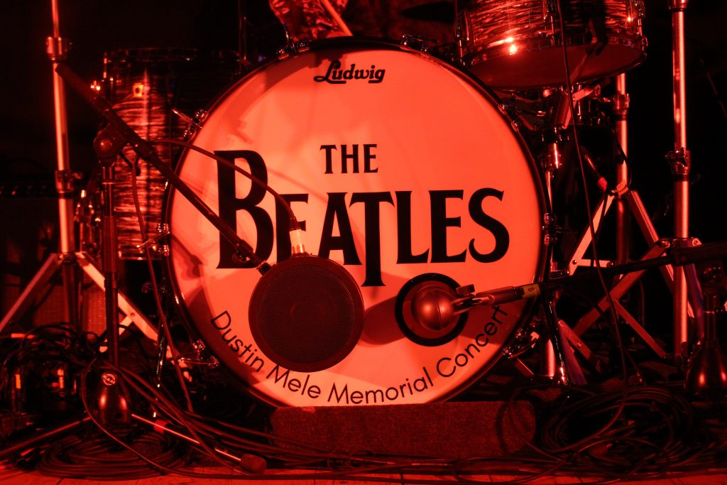 Close up of Beatles Drum Head